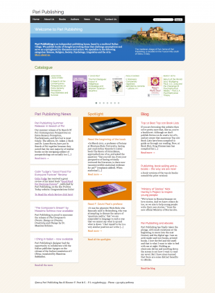 website for Tuscan publishing house Pari Publishing