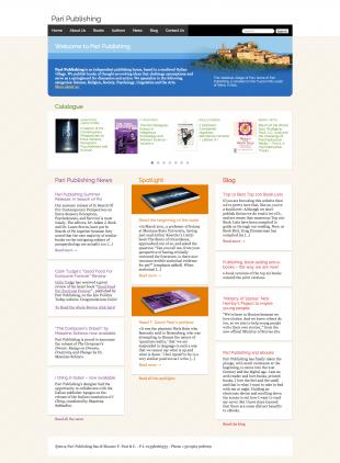 website for Tuscan publishing house Pari Publishing
