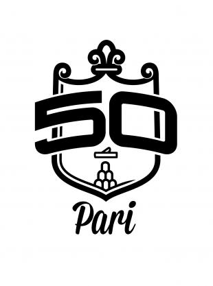 Logo cinquantesima Sagra della Salsiccia a Pari (GR)