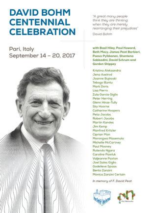 poster per il centenario di David Bohm